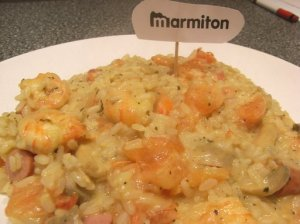 risotto crevettes curry
